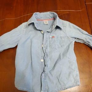 Carter's denim long sleeve shirt